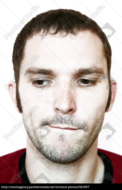 man, unshaven, looking, aside - 567097