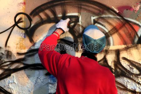 the graffiti sprayer