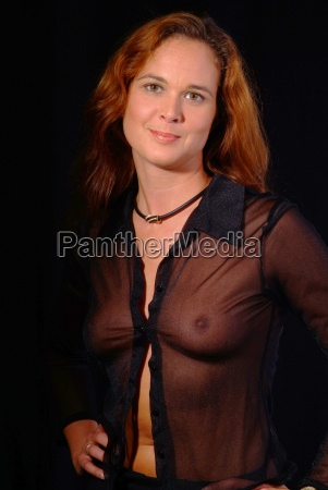 woman in transparent blouse