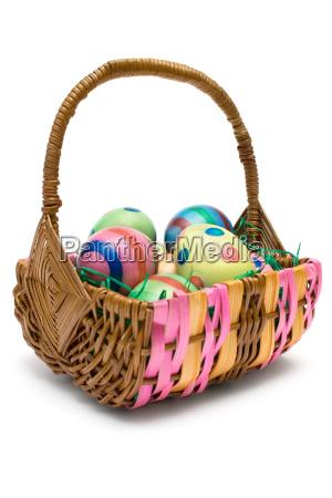 eggs, in, easter, basket - 574747