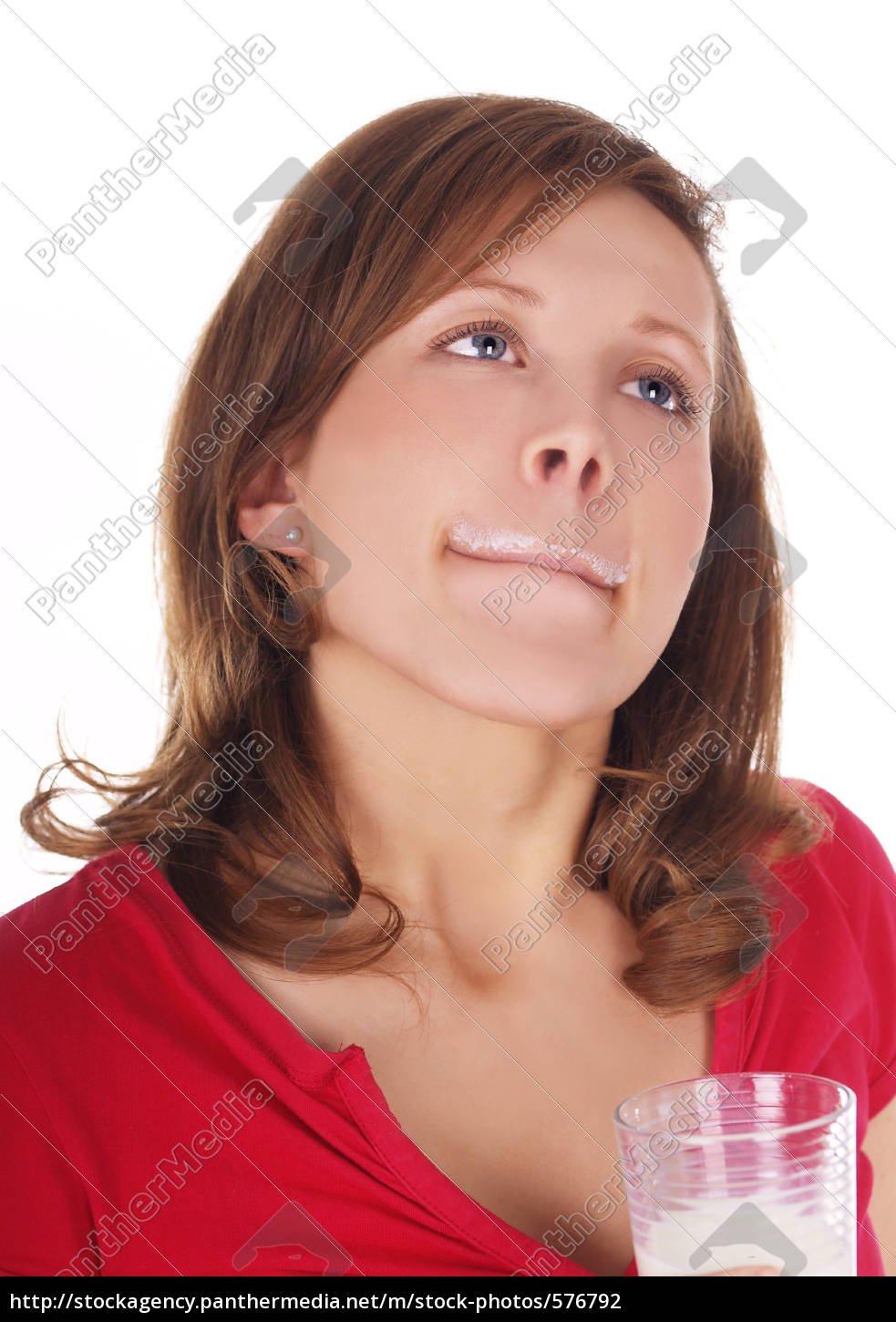 woman, enjoying, milk - 576792