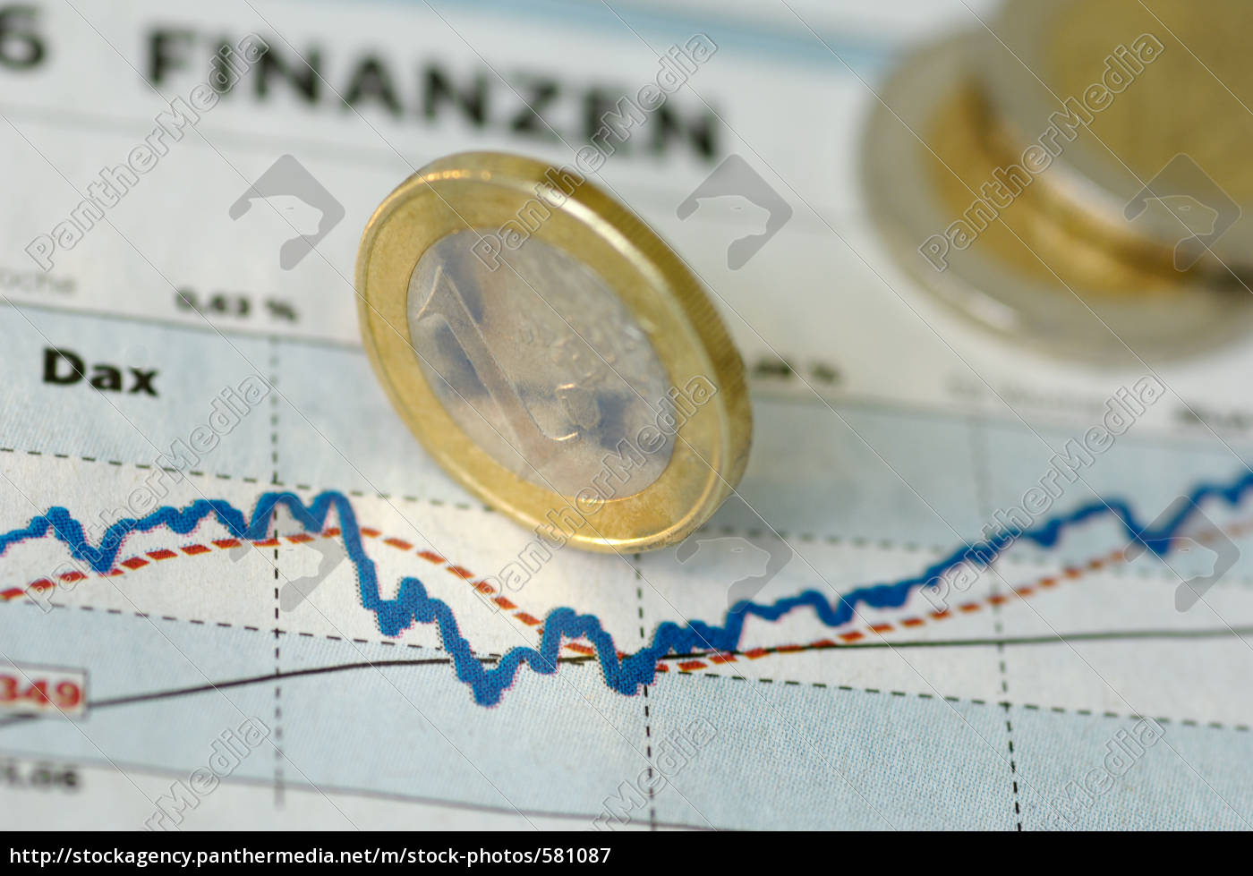 price, chart, with, euro, coins - 581087