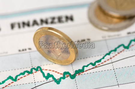 price, chart, with, euro, coins - 581090
