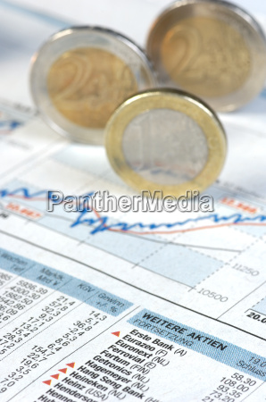 price, chart, with, euro, coins - 581113