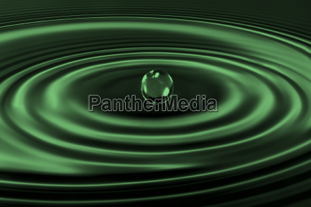 water, drops, -, blub, dark, green - 583305