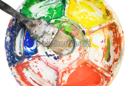 color, palette, with, paint, brush - 584518