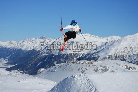 skiers, over, the, engadine - 584678