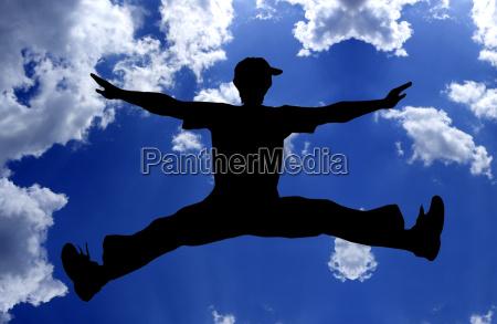 flying, boy, blue - 587626