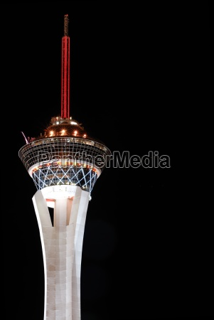 stratosphere tower las vegas in march