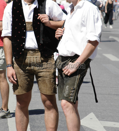 men with bavarian leather pants
