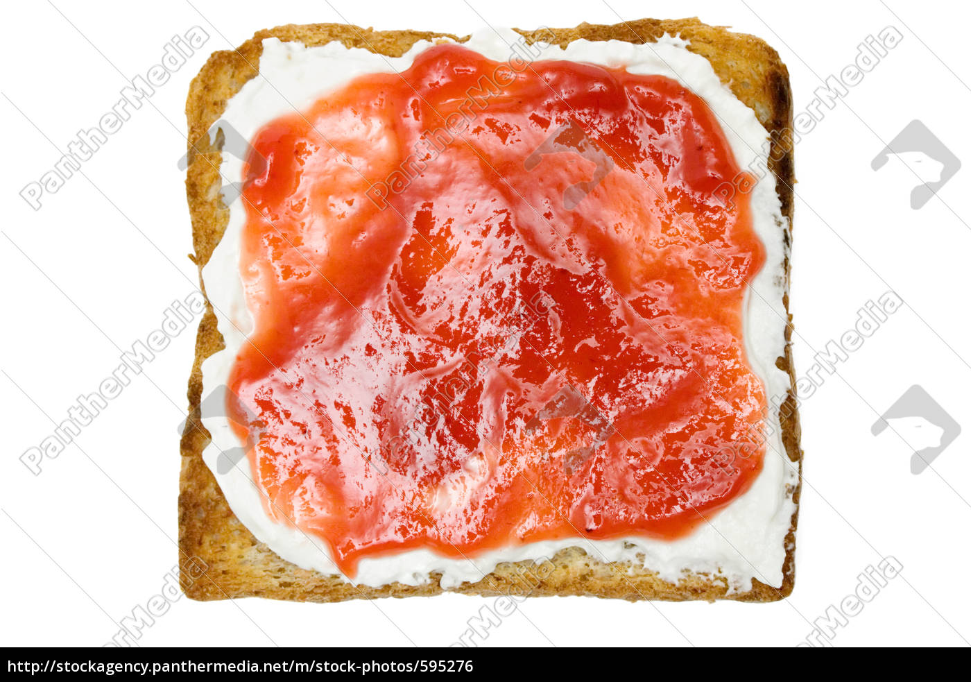 toast, with, jam - 595276