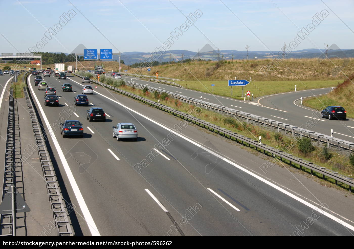 tailback, on, the, motorway - 596262