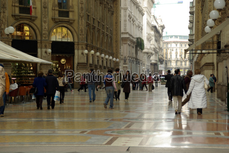 pedestrian area in milano