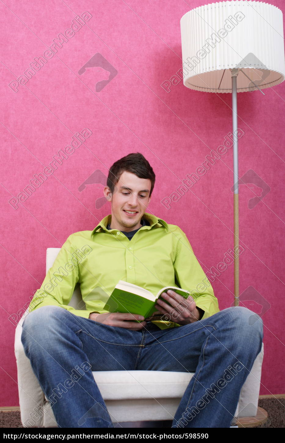 young, man, reading - 598590