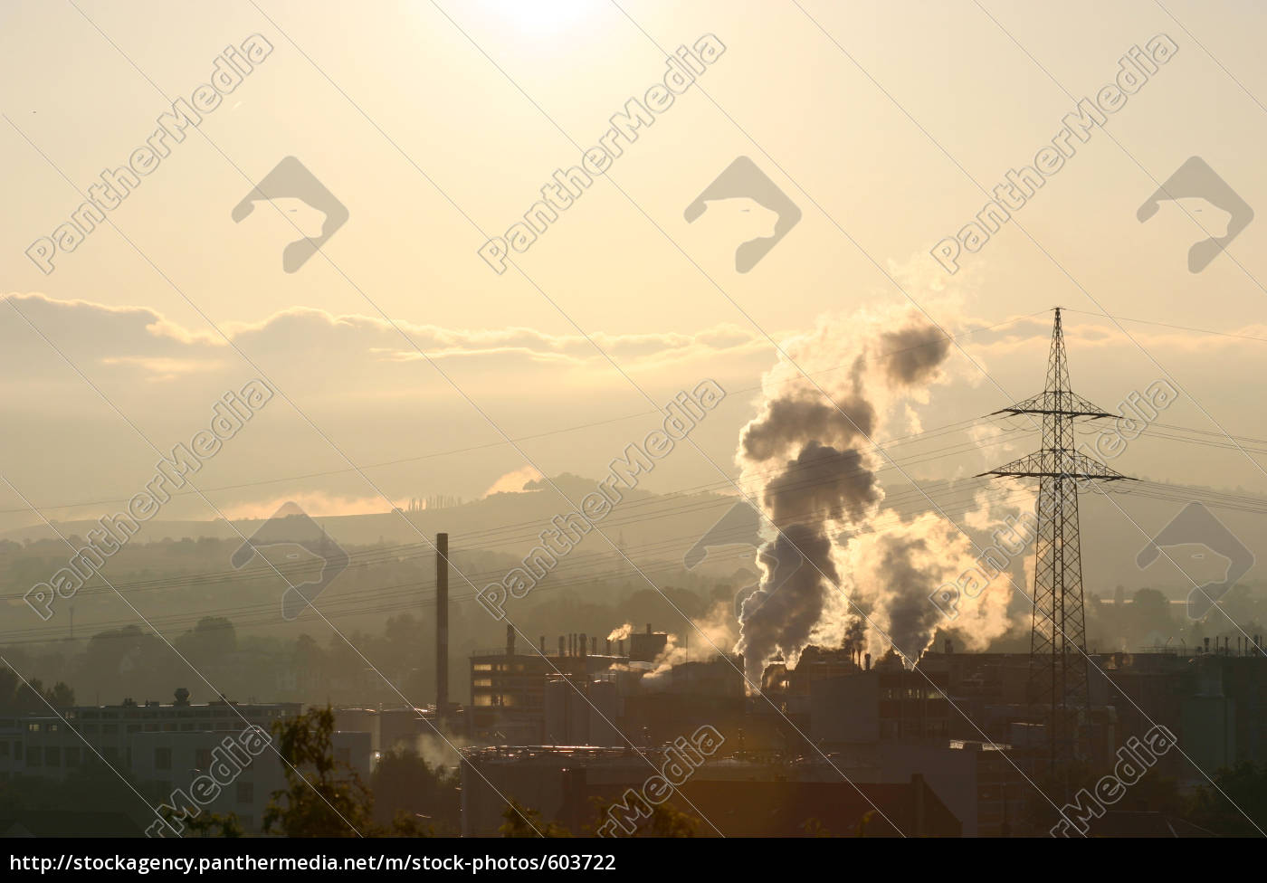 chemical, plant, in, the, evening, light - 603722