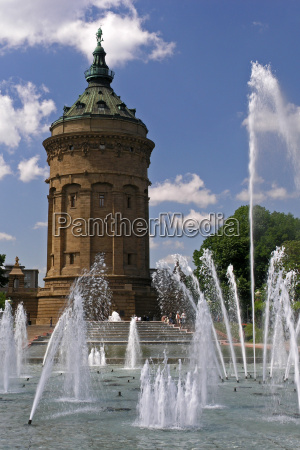 water, tower, in, mannheim - 603805