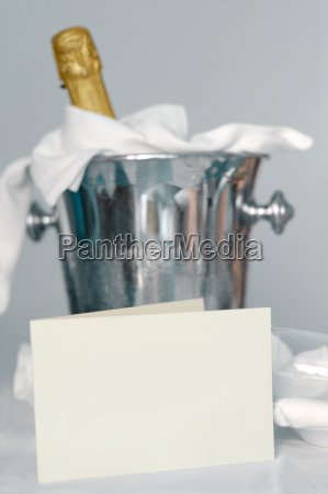champagne, bucket, with, neutral, card - 607890