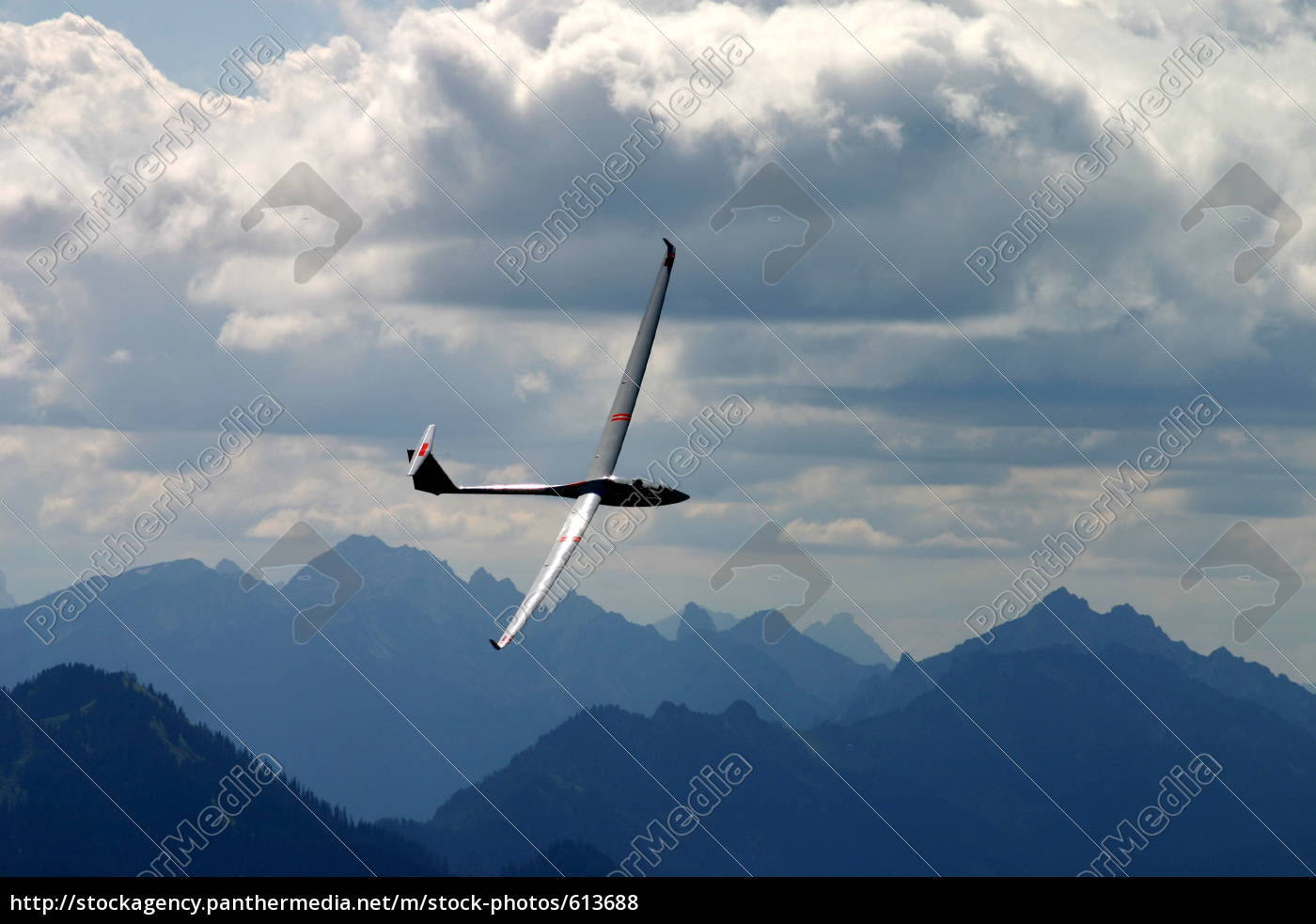gliding, over, the, ammergauer, alps, iv - 613688