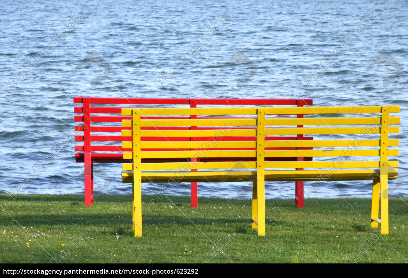 wooden, benches - 623292