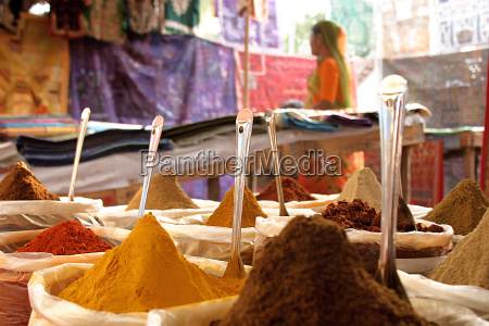 spices, on, indian, market - 631960