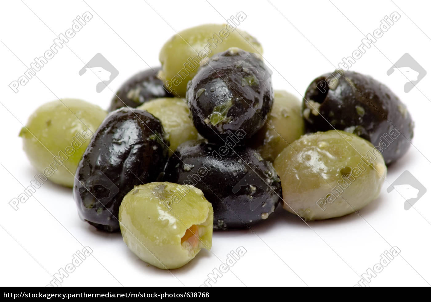 green, and, black, olives - 638768