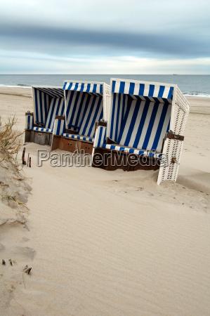 beach, chairs - 647725