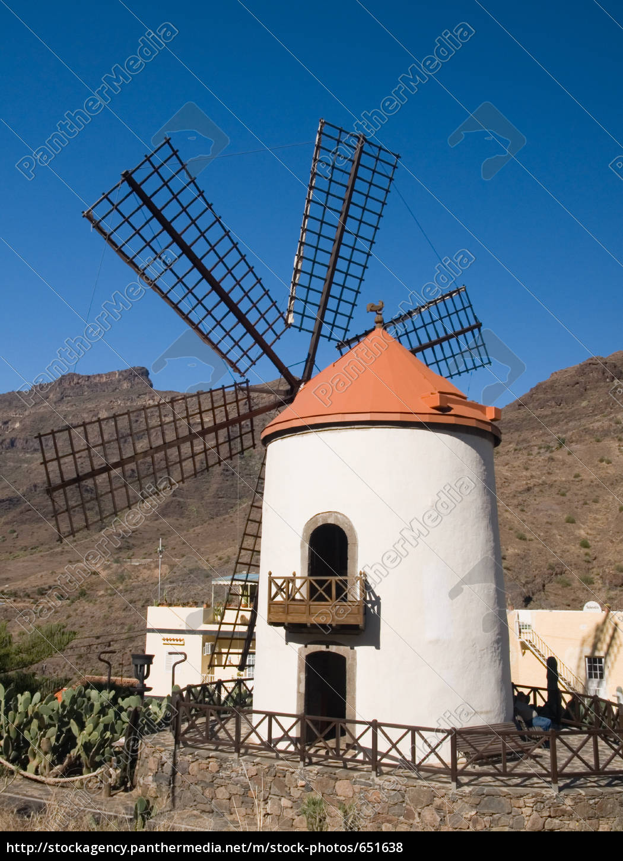 windmill, gran, canaria, iii - 651638