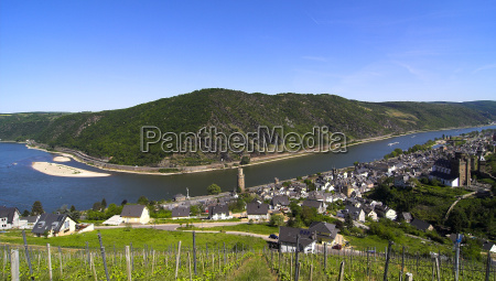 middle rhine valley at oberswesel
