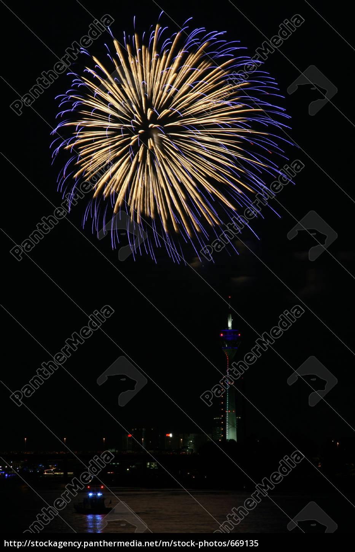 japanese, fireworks, 2007, dusseldorf - 669135