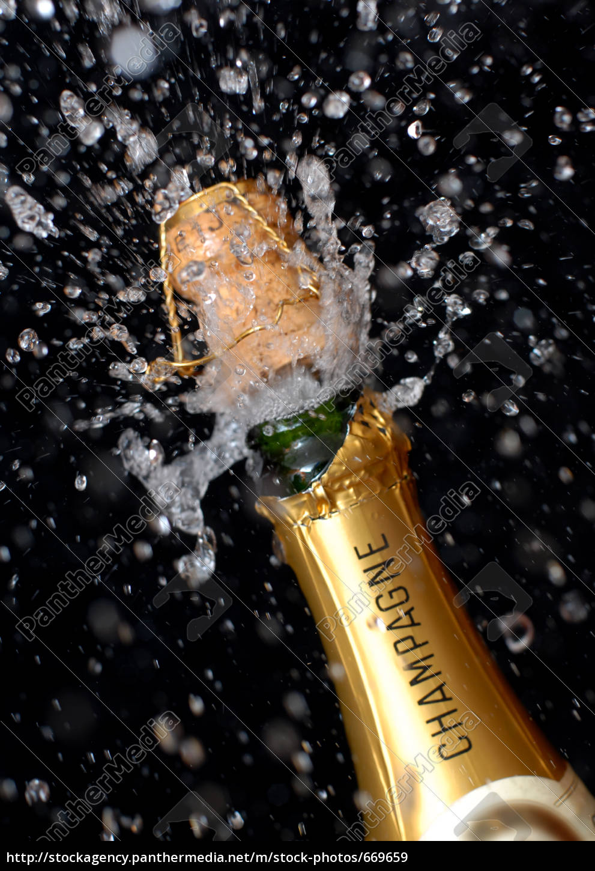 popping, champagne, bottle - 669659