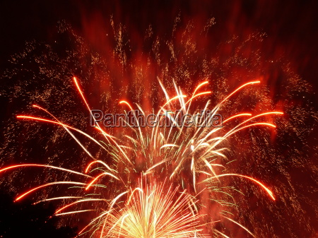 fireworks, red - 671174