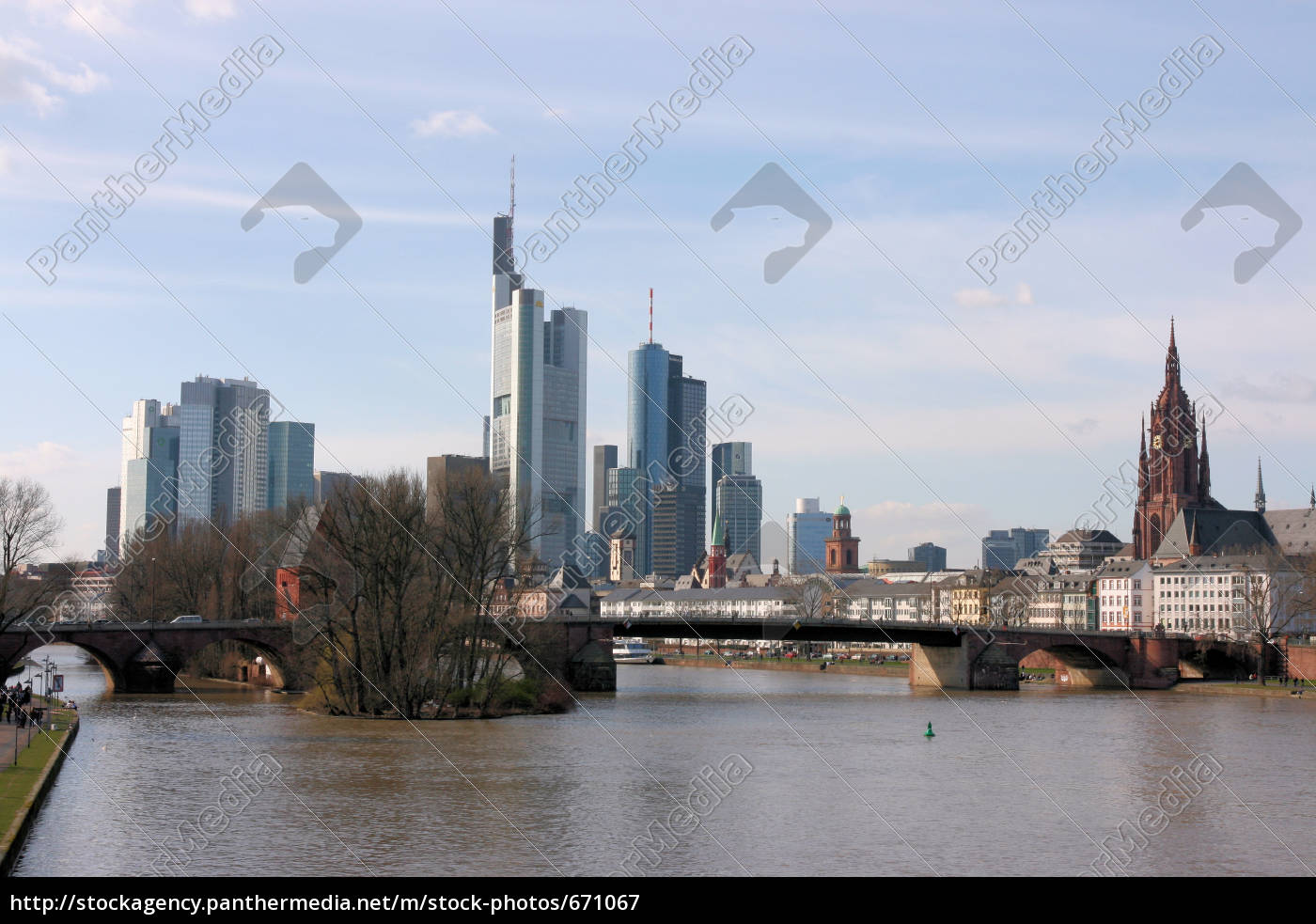 skyline, of, frankfurt - 671067