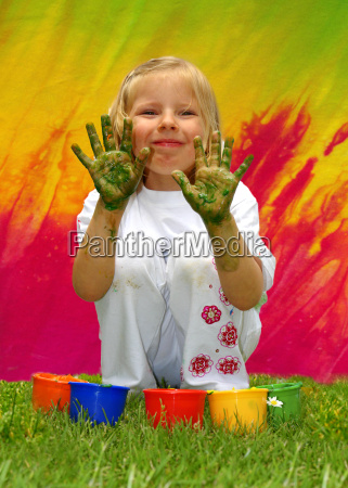 naughty, little, girl, with, fingermal, colors - 684885