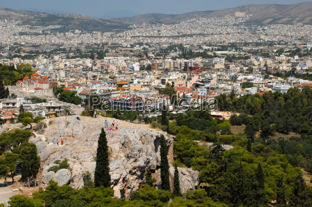 athens, city, view, with, areopagus - 686360