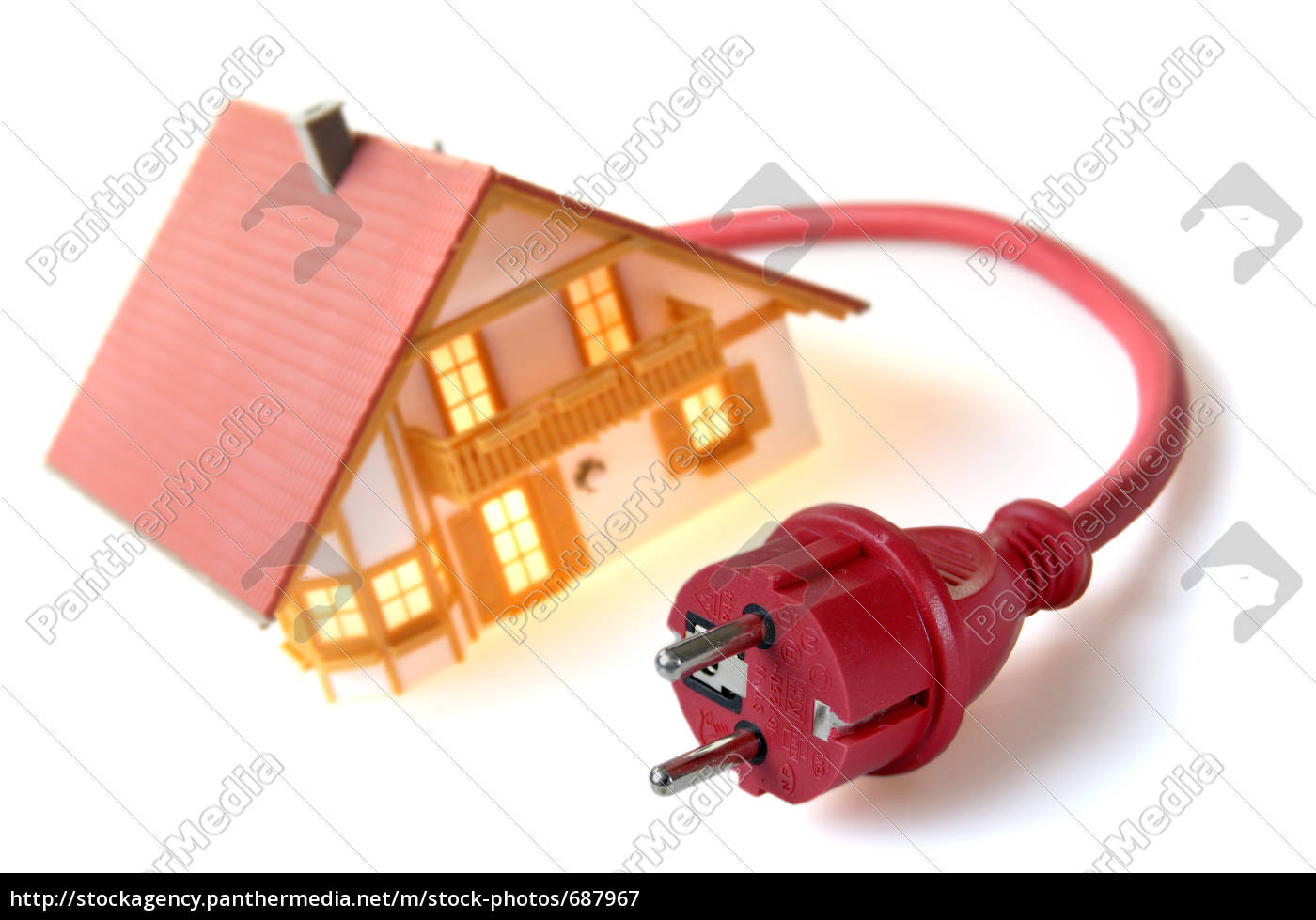 model, house, with, safety, plug - 687967