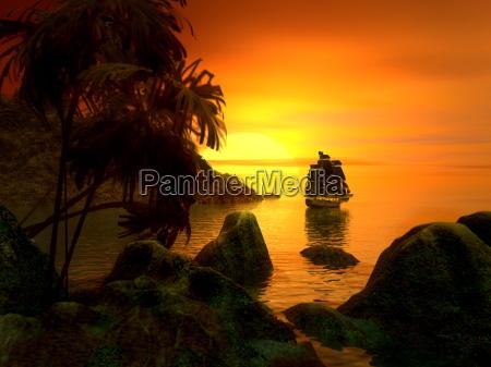 sun, island - 697591