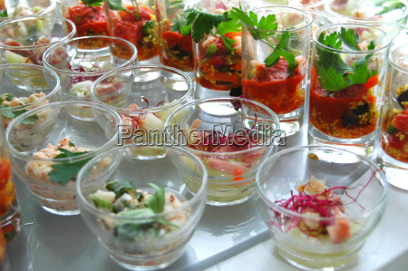 appetizers, in, glass - 698609