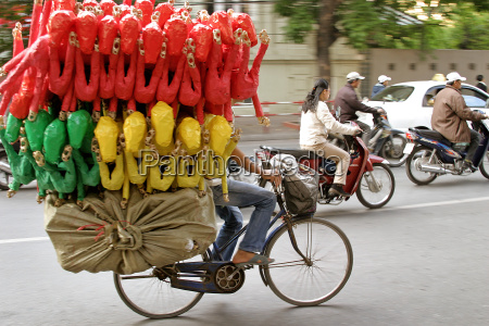 man, transported, goods, on, bike - 703727
