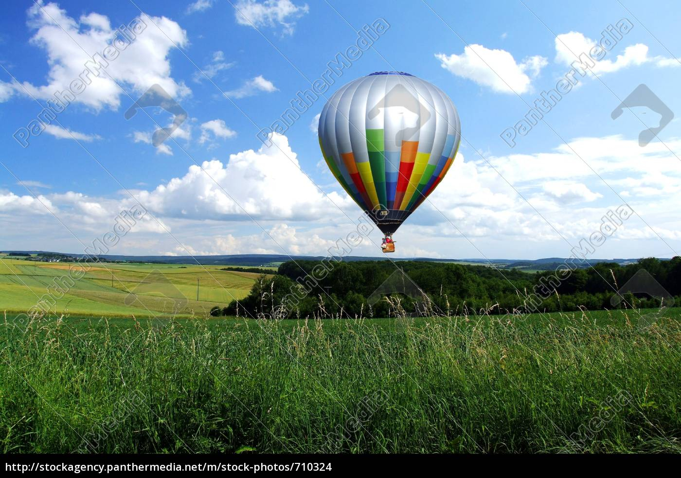 balloon, over, fields - 710324