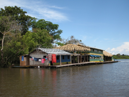 flutuante, floating, house, amazon - 713994