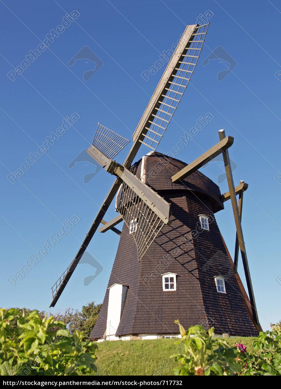 old, windmill, in, denmark, vestervig - 717732