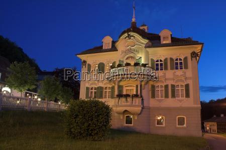 hunter house at night