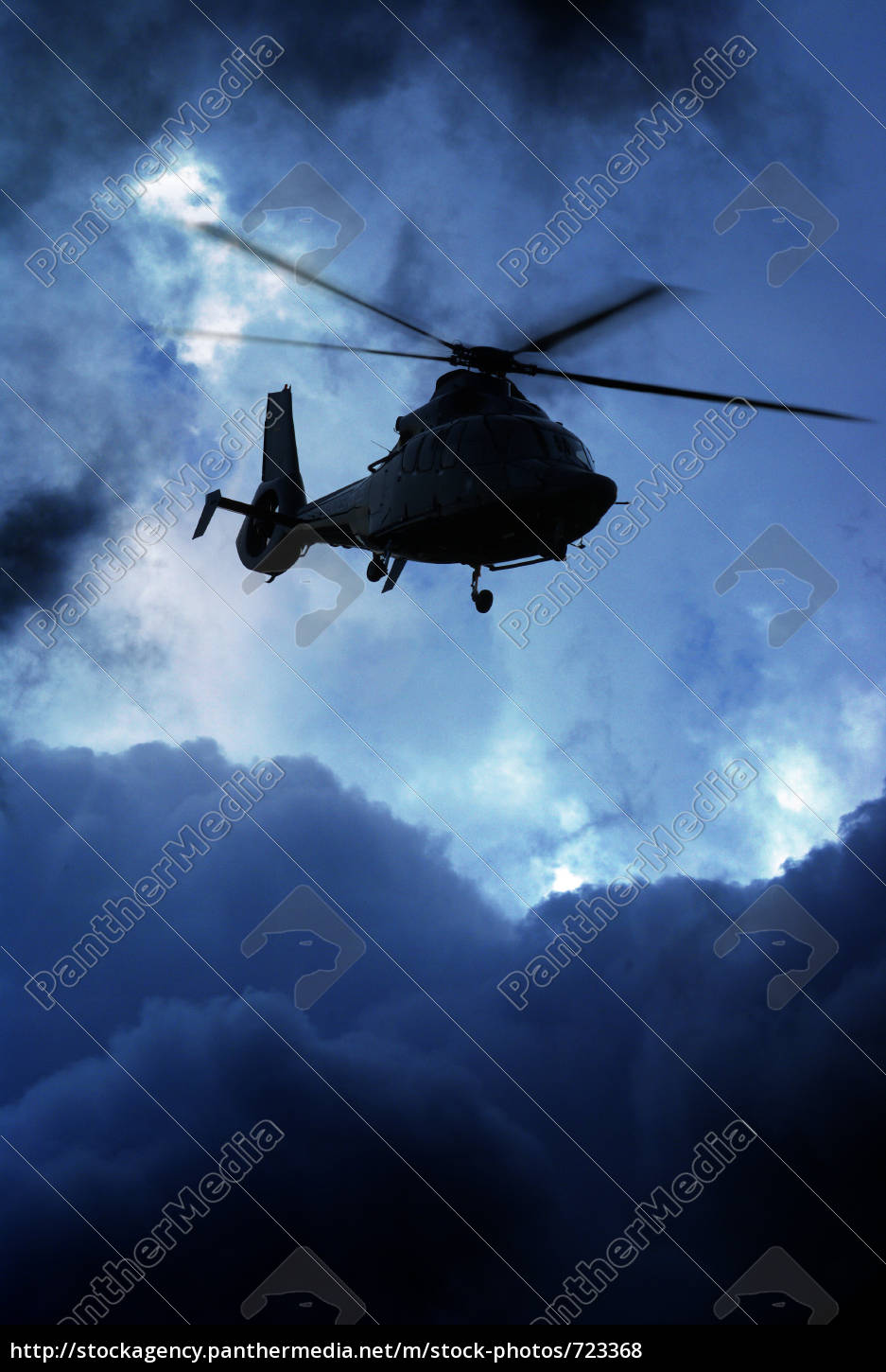 helicopter, before, cloud, front - 723368