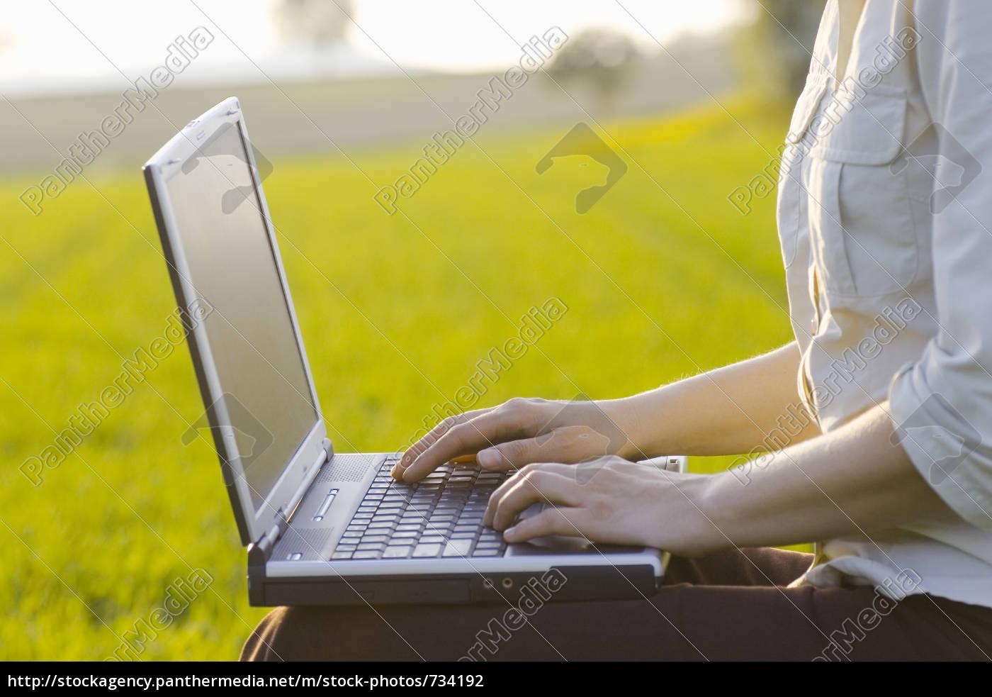 laptop, outdoor - 734192