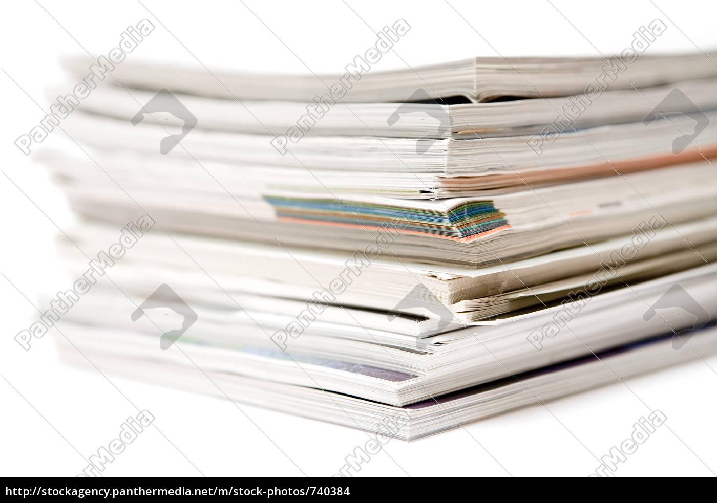 stacked, magazine - 740384