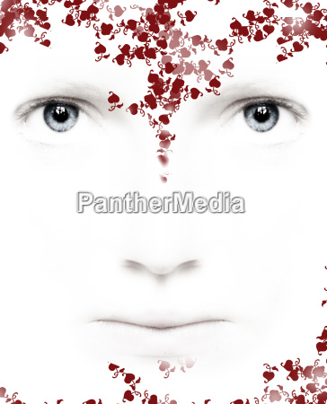 white, beauty, face - 741800