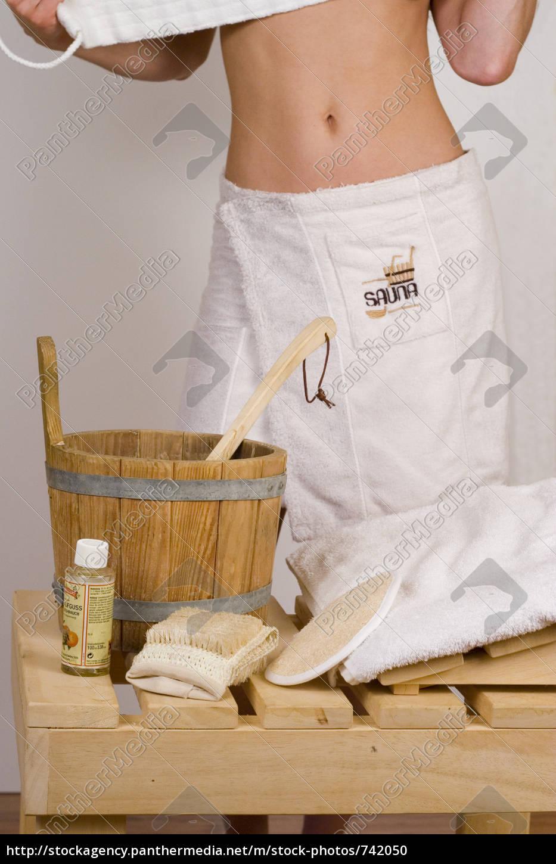young, woman, at, sauna, bath - 742050