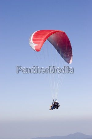 red, paraglider, -, tandem, flight - 747410