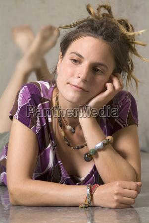 lounging, woman - 751356