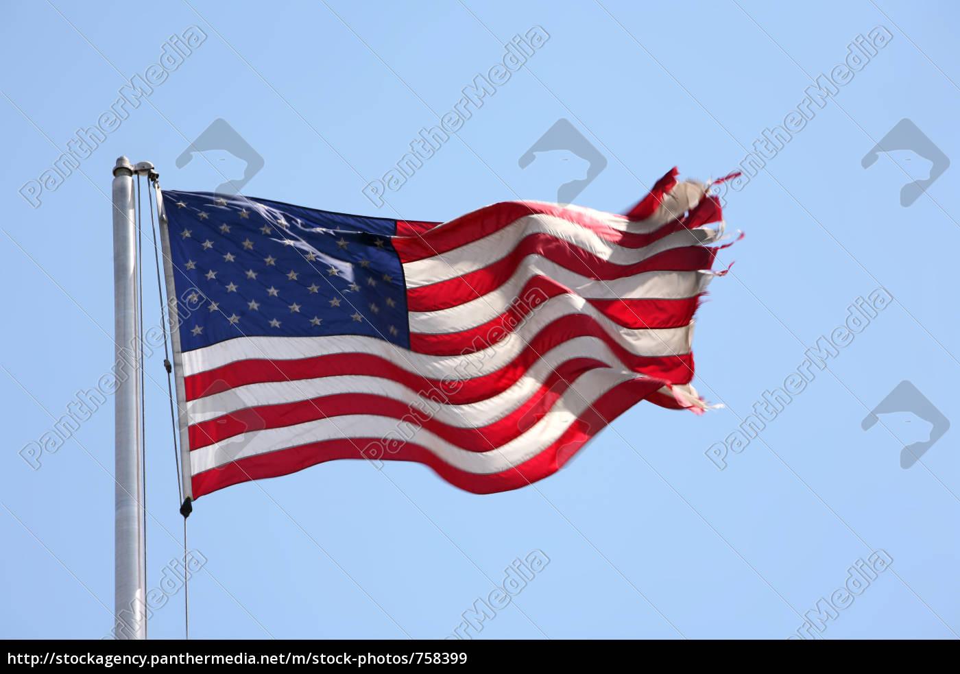 us-flagge, im, wind - 758399